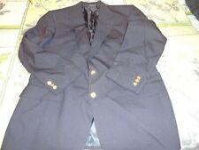 Mens Navy Blue Wool Stafford Executive Usa Sport Coat Suit Jacket Blazer -46R