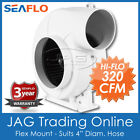 "12V SEAFLO BILGE BLOWER 320 CFM FLEX MOUNT 4"" HOSE Boat/Marine/RV Exhaust Fan photo"