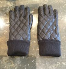 LADIES STYLISH UNIGLO BROWN POLYESTER GLOVES / SIZE M / BARELY WORN GOOD CON