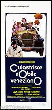 CULASTRICE NOBILE VENEZIANO LOCANDINA CINEMA FILM MASTROIANNI CLAUDIA MORI 1976