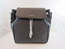 """Charisma "" Designer GUESS Purse, Black Backpack hand/shoulder bag Free US Ship"