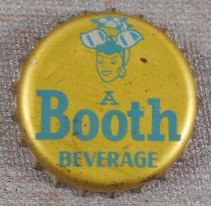 Vintage 1940's A Booth Beverage Soda Cork Lined Bottle Cap