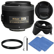 Nikon AF-S DX NIKKOR 35mm f/1.8G Lens for Nikon DLSR Cameras + Micro Cloth &More