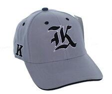 "New! Old English Letter Hat ""K"" Adjustable Back 3D Embroidered Cap - Ash Gray"