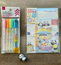 KAWAII DAISO JAPAN PANDA LETTER SET STATIONERY SET *ADORABLE PASTEL PANDAS!*