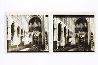 Francia Interno Un Chiesa Foto Stereo T2L2n Placca Da Lente Vintage