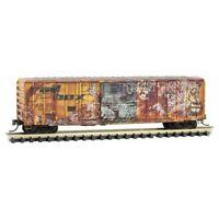 Railbox 50' Ribside Box Car 'Gorilla' Weathered Graffiti MTL #026 52 071 N Scale