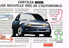PUBLICITE ADVERTISING 104 1995  CHRYLSTER NEON  ( 2 pages)