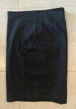 Gorgeous BEBE Black Classic Lined Pencil Skirt Sz 4