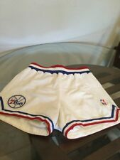 7a1de8fa67b Philadelphia 76ers Sixers White Sand Knit Game Worn Shorts Size 32