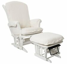 Luxe Basics Cover Me Glider Chair Cover - Ivory Dot