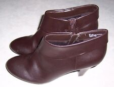 """EAST 5TH Brown Fashion Ankle Boots 3"""" Heel Womens Size 9M Side Zip"""