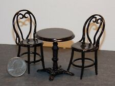 Dollhouse Miniature Patio Table Set Brown Metal 1:12 scale J5B Dollys Gallery
