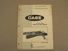 Case Tractors H Series Tandem Wheel Type Disk Harrow Service Parts Catalog 1969