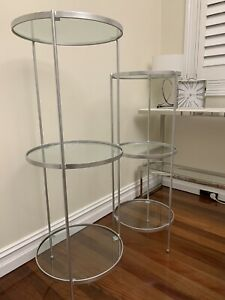 Glass Display Shelves Stand Set Of 2 (Pick Up Croydon NSW 2132)