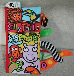 JELLYCAT SILLY TAILS INFANT SENSORY BOOK, DEVELOPMENTAL, CRINKLE, TEXTURES *NEW