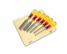 Irwin Marples 8pc 6-50mm Splitproof M373 Bevel Edge Wood Chisel Case Set 1977911