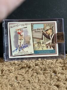 2017 Topps Archives 1 Of 1 Kevin Youkilis Auto Of '10 Allen & Ginter's
