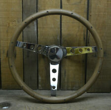 WOODGRAIN STEERING WHEEL W 1974-94 CHEVY GMC PICKUP TRUCK ADAPTER EL CAMINO VAN