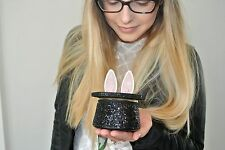 NWT Kate Spade Rabbit in a Hat Coin purse Magic hat bunny ears, Black glitter,