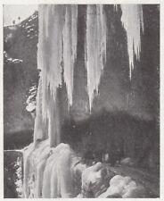 D6518 Val di Scalve - Le Capanne in inverno - Stampa d'epoca - 1909 old print