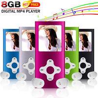 8 GB schmal Digital MP3 MP4 Spieler 4.6cm LCD Musik Medien FM Funk Video-Spiele