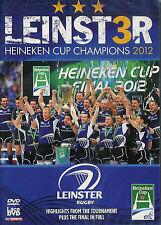 LEINSTER, IRELAND 2012 HEINEKEN CUP CHAMPIONS OF EUROPE RUGBY DVD - NEW & SEALED