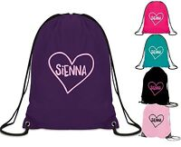PERSONALISED gym bag your name school pe bag swim dance football ballet name