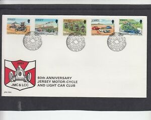 Jersey 1980 Motorcycle & Light Car Club First Day Cover FDC
