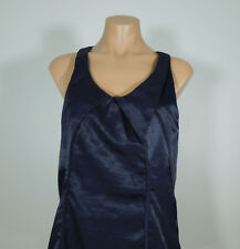 RICHARD CHAI for Target Satin Look Navy Blue Racerback Dress size 9