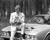 """ROGER MOORE w/ ASTON MARTIN DBS USED IN """"THE PERSUADERS!"""" - 8X10 PHOTO (FB-178)"""