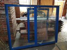 Doppel-, Isolierglas Doppelfenster 1500 x 1775 mm blau einflüglig 1370 x 800