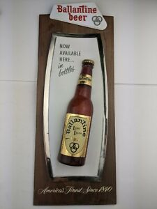 Vintage Ballantine Beer Light Lager SIGN vertical 12 oz. wall plaque rare