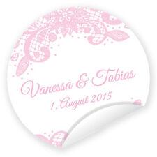 Aufkleber 'Vintage Pastell' 24 Stück (4 cm) personalisiert Hochzeit Gastgeschenk