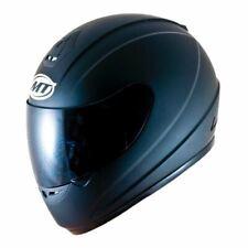 MT Thunder Plain Matt Black Full Face Motorcycle Motorbike Crash Helmet ACU Gold