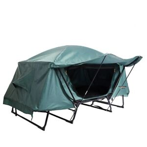Outdoor Camping Off-Ground Tent With Folding Bed Waterproof &Cold-Proof Camping