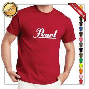 Pearl Drums Logo T-Shirt Drums Band Shirt Funny Sabian Zildjian Music