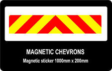 Magnetic Chevrons, fluorescent and reflective 1000mm x 200mm