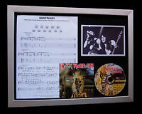 IRON MAIDEN Sanctuary LIMITED CD FRAMED DISPLAY+EXPRESS GLOBAL SHIPPING !!