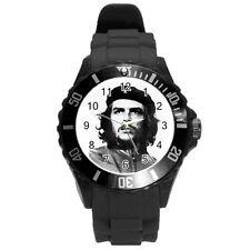 Che Guevara Round Plastic Black Sport Watch Large Size