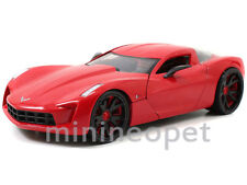 JADA BIGTIME 96730 2009 CHEVY CORVETTE STINGRAY CONCEPT 1/24 RED w BLACK WHEELS