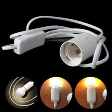 E27 Light Bulb Lamp Socket To US AC Plug Power Cord Adapter Off On Switch