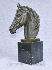 Bronze Horse Head Bust Horses French
