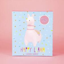 Happy Llama Mood Led Light Nightlight Bedside Table Desk Top Lamp Cute Gift New