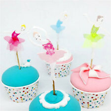 24pcs ballerina fairy cupcake topper dancing girl cake insert card party decor..