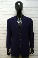 HUGO BOSS Uomo Taglia 50 Giacca Elegante Cappotto Blazer Cashmere Jacket Viola