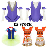 US Girls Circus Princess Fancy Dress Halloween Costume Ringmaster Cosplay Outfit