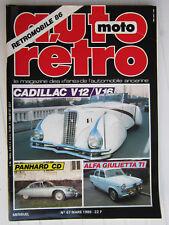 AUTO RETRO N° 67 / CADILLAC V12/V16/ PANHARD CD/ ALFA GIULIETTA TI/ TVR 350 I