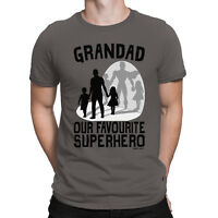 Grandad Our Favourite Superhero Mens T-Shirt Grandson Daughter Fathers Day Gift