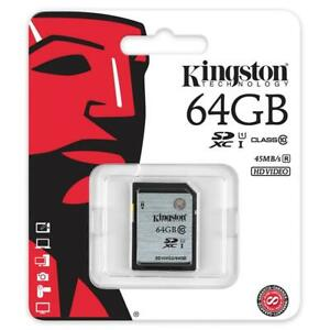 Kingston SD10VG2/64GB 64 GB UHS Class 1/Class10 SDXC Flash Memory Card